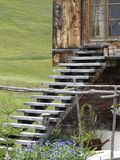 Hölzerne Treppen Stockfoto
