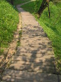 Hölzerne Treppen Stockbilder