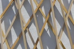 Hölzerne und konkrete Fassade eines modernen Gebäudes lizenzfreies stockfoto