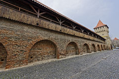 Hölzerne Wälle der Festung ummauern Sibiu Rumänien Lizenzfreie Stockfotos