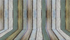 Hölzerne Wände und Boden für Hintergrund Stockbilder