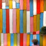 Hölzerne Wand der Farbe Lizenzfreies Stockbild