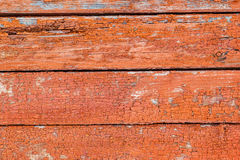 Hölzerne Wand der rustikalen Weinlese mit verblaßter roter Farbe Hintergrund, tex Lizenzfreie Stockfotografie