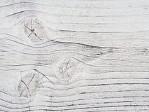 Hölzerne Wand gemaltes Weiß, Detail Stockfotos