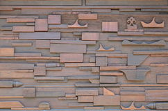 Hölzerne Wand-Innenraum-Art stockbild