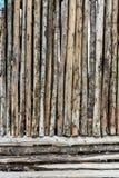 Hölzerne Wand von den alten Protokollen Lizenzfreie Stockfotografie