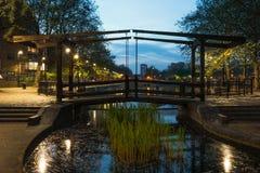 Hölzerne Wegbrücke Stockbild