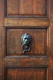 Hölzerne Weinlese-Brown-Tür Stockfotografie