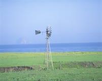 Hölzerne Windmühle Stockfotos