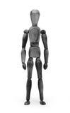 Hölzerne Zahl Mannequin mit bodypaint - Schwarzes Lizenzfreie Stockbilder
