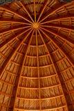 Hölzerner Aufbau einer Kuppel Stockbild