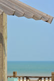 Hölzerner Bau des Strandes Stockbilder