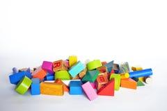Hölzerner Bau für Kinderspiel Lizenzfreies Stockbild