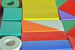 Hölzerner Bau für Kinderspiel Lizenzfreie Stockbilder