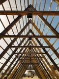 Hölzerner Bau im Oslo-Stadtzentrum, Norwegen stockbilder