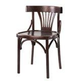 Hölzerner bequemer Stuhl lokalisiert auf weißem Hintergrund Lizenzfreie Stockbilder