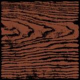 Hölzerner Beschaffenheitshintergrund Browns im quadratischen Format vektor abbildung