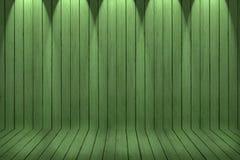 Hölzerner Beschaffenheitshintergrund grüne hölzerne Wand und Boden lizenzfreies stockfoto