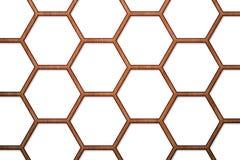 Hölzerner Bienen-Bienenstock-Hintergrund Stockfotos