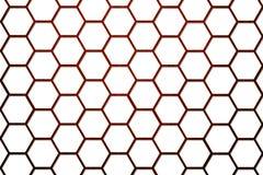 Hölzerner Bienen-Bienenstock-Hintergrund-kleinere Zellen 2 Lizenzfreie Stockfotografie
