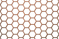 Hölzerner Bienen-Bienenstock-Hintergrund-kleinere Zellen Stockbild