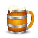 Hölzerner Bier-Becher lizenzfreie abbildung