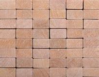 Hölzerner Blockhintergrund Stockbild