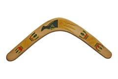 Hölzerner Boomerang. Lizenzfreie Stockfotografie