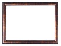 Hölzerner Bronzerahmen auf weißem Hintergrund Lizenzfreies Stockbild