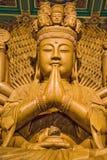 Hölzerner Buddha Lizenzfreie Stockfotos