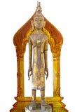 Hölzerner Buddha-Stand Lizenzfreies Stockfoto