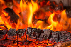 Hölzerner Burning Stockbild