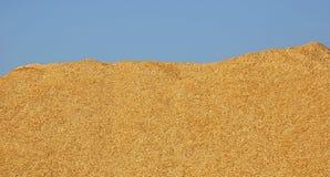 Hölzerner Chips Pile Blue Sky Lizenzfreie Stockbilder