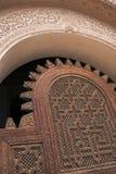 Hölzerner Eingang Stockfoto