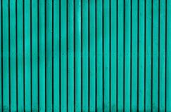 Hölzerner gemalter Zaun des Aqua Lizenzfreies Stockfoto
