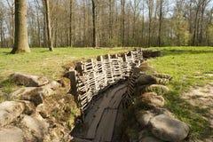 Hölzerner Graben Bayernwald des Weltkriegs 1 Belgien Stockbilder