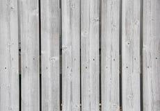 Hölzerner Grey Board Fence Nails- und Knoten-Hintergrund stockbilder