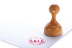 Hölzerner Gummistempel des Verkaufs Lizenzfreie Stockfotografie