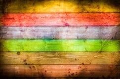 Hölzerner Hintergrund der Regenbogen für viele Anwendungen lizenzfreie stockbilder