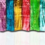 Hölzerner Hintergrund der Regenbogen für viele Anwendungen lizenzfreies stockbild