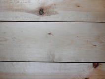 Hölzerner Hintergrund Die hellen horizontalen Bretter Stockbild