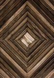 Hölzerner Hintergrund Geometrischer hölzerner Hintergrund Hölzerne Latten in Form von Quadrat stockbilder