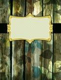 Hölzerner Hintergrund mit dekorativen Kennsätzen, Vektor stock abbildung