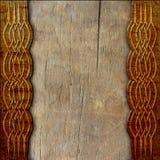 Hölzerner Hintergrund mit keltischem Muster lizenzfreie stockfotografie