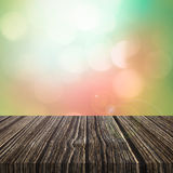 Hölzerner Hintergrund und Boden, hölzerner Raumhintergrund, Innenraumrückseite Stockfotos