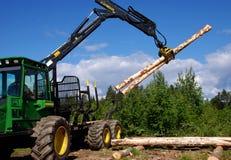 Hölzerner Holzfäller `Wettbewerb stockbild