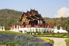 Hölzerner königlicher Tempel Stockbild