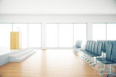 Hölzerner Konferenzsaal Lizenzfreies Stockfoto