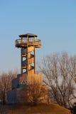 Hölzerner Kontrollturm im Winter Lizenzfreies Stockbild
