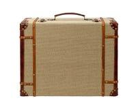 Hölzerner Leinwand-Koffer Decos mit Beschneidungspfad Stockfoto